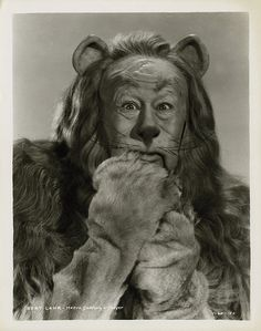 Portrait of Bert Lahr as The Cowardly Lion by E. Raymond Tarkington from The Wizard of Oz