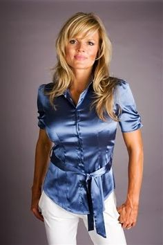 Busty office lady fondling blouse