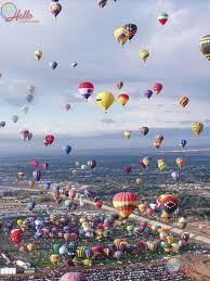 Albequerque, New Mexico. Hot Air Balloon Festival.