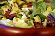 egg avocado salad, salad recipes, salad dressings, bacon egg, egg salad