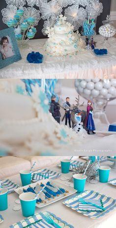 Frozen GenieLeigh.com Disney Frozen Birthday party Fifth Birthday Genie Leigh Photography