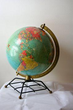Antique Globe 1950s