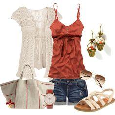 Summer Outfit jean shorts, bohemian fashion, summer fashions, flower baskets, fall outfits, summer outfits, summer fun, shoe, earring