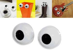 What are you looking at!?!? Turn any object at home or office into a lovable character with our iBlink Blinking Eyes! It's attached suction cups (with clips for a more permanent hang) will cling onto walls, mirrors, windows, file cabinets, just about any flat surface!