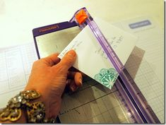Mailing tip to make sure your embellished cards can be mailed without extra postage because of being too thick....
