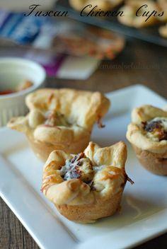 Rosemary and Garlic flavored chicken nestled in crescent rolls! www.lemonsforlulu.com #shop