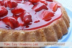 Mommy's Kitchen - Old Fashioned  Country Style Cooking: Moms Easy Strawberry Cake {My Childhood Favorite} strawberry cakes, strawberri cake, food, strawberries, mom easi, mommi kitchen, cake recipes, easi strawberri, dessert