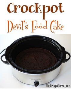 Crockpot Cake Recipe at TheFrugalGirls.com
