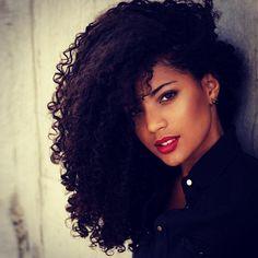 ♚ Natural hair, black hair, curly hair #cachos #cacheado