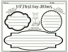 First day of school activities to go with the book First Day Jitters.