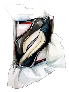 shoe in the box illustration