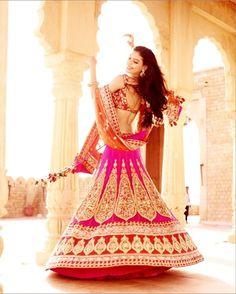Ritu Beri's pink bridal lehenga