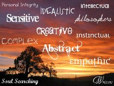 A selection of words that aptly describes INFJs <3