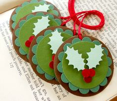 TAGS .... Holly gift tags