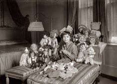Miss Smith & dolls: 1920. Emily Smith, Daughter of NY governor Al Smith