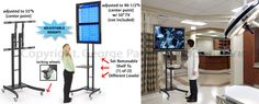 Mobile TV Stand with Black Finish and Rotating Shelf and Mounting Bracket Extenders http://www.displays2go.com/P-17443/LCD-TV-Stands-Feature-Extra-Tall-Bracket-Setting?o=1-22251#