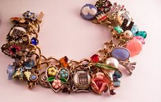 Charm Bracelet, repurposed from old jewelry