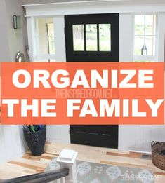 how to organize the family for back to school routines