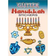 Glitter Hanukkah stickers $1.99