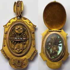 Victorian Etruscan locket with hairwork victorian etruscan, lockets, hair flowers, flower seed, gold locket, pendant, seed pearl, etruscan gold, mourn jewelri