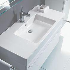 Integral porcelain sink