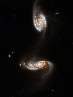 Interacting Galaxy NGC 5257 Wallpaper By sjrankin Edited Hubble Space Telescope of the interacting galaxies NGC 5257.