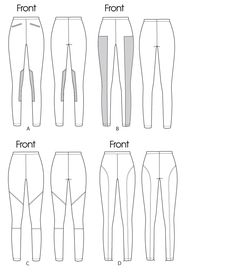 M 6404 leggings (good pattern for breeches and schooling tights)
