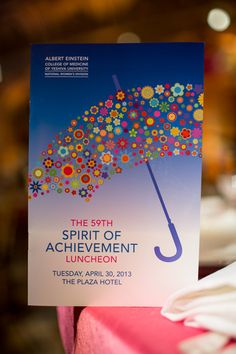Einstein's 59th Annual Spirit of Achievement Luncheon, at the Plaza Hotel, New York City, April 30, 2013.