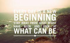 beginning, new day