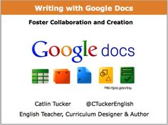 Great ideas for using Google docs in cross-curricular writing