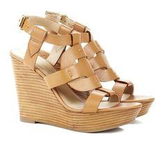 Summer Tan Wedge Sandal.