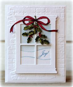 christmas cards, christma card, card idea, greenhous societi, memori box