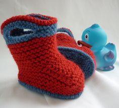 Knitting Pattern Baby Booties - Splish Splash Splosh. $4.00, via Etsy.