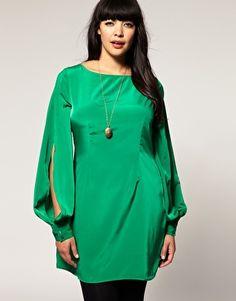 ASOS CURVE Slash Dress With Split Sleeve