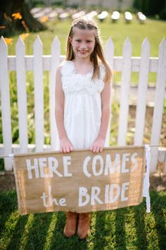 Wedding Signs. Here Comes the Bride  Photography by smittenphotography.com