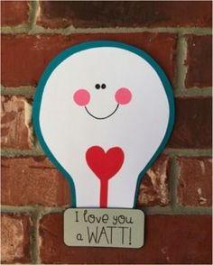 #DIY I #love you a watt :-) #Valentine #kids Love it !   www.kidsdinge.com https://www.facebook.com/pages/kidsdingecom-Origineel-speelgoed-hebbedingen-voor-hippe-kids/160122710686387?sk=wall