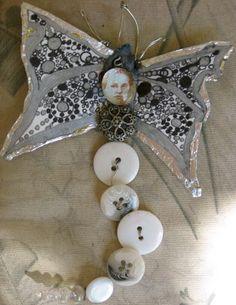 Silvery button fairy button fairi, fairi pin