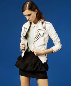 studded leather jacket. need this in my closet.