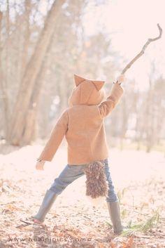 Fall Kids Coat:  Fantastic Little Fox. $150.00, via Etsy.