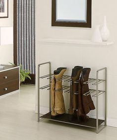 Loving this Organize It All Stackable Boot Rack on #zulily! #zulilyfinds
