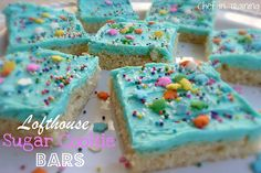 Lofthouse Sugar Cookie Bars!  The taste of delicious sugar cookies but without all the work!