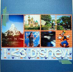 Disneyland Scrapbooking