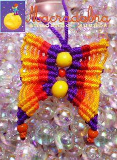#mariposa en #Macrame