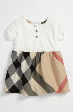 Burberry Check Print Dress (Infant) | Nordstrom