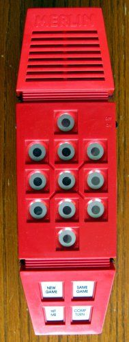 1978 Merlin Electronic Puzzle Game by Hasbro (Vintage Hand-Held Educational).  $44.95 shipped.