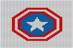 Captain America: super hero knitting charts