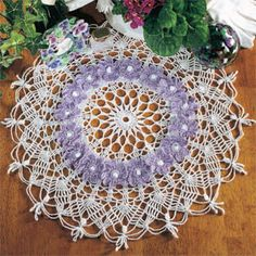 Ring of Violets Doily