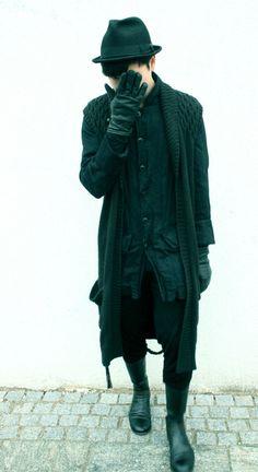 black on black layer mens fashion