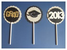 Graduation cupcake toppers, Cupcake toppers,  personalized toppers , set of 12, party decorations