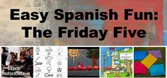 Easy Spanish activities for kids: Fun activities for a range of levels. No preparation required! Includes the Spanish song  ¿Cuántas manzanas hay? by Spanish Together. http://spanishplayground.net/easy-spanish-kids-friday-five/
